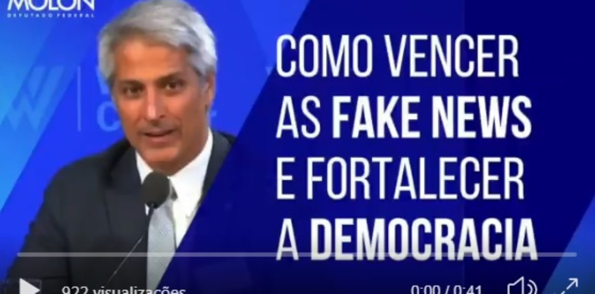 Vídeo: Em Washington, D.C., Molon fala sobre Fake News
