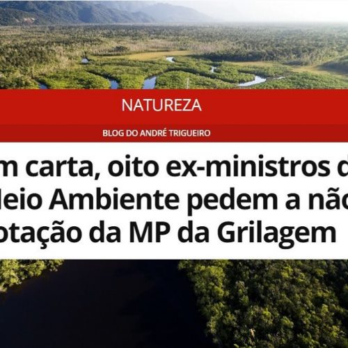 "Carlos Minc assina documento contra a ""MP da grilagem"""